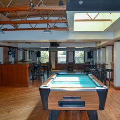 The upstairs space that can be configured for multiple types of events.