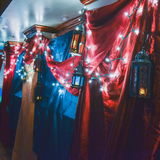 Function space upstairs, dressed in an Aladdin theme