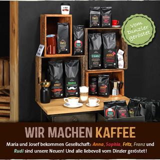 Kaffee aus der Umgebung bei Dinzler fein geröstet