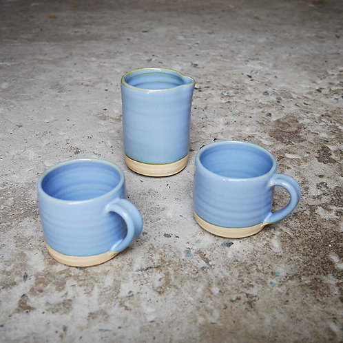 Loaf Pottery Espresso Set Sky
