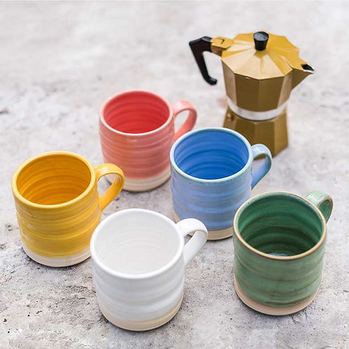 Loaf Mugs - Colour Collection x 5