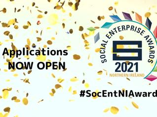 Social Enterprise NI Awards 2021 - NOW OPEN FOR APPLICATIONS