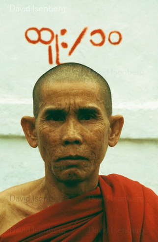 Monk, Rangoon, Burma