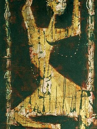 3  Dancer (gold, bronze and silver leaf,
