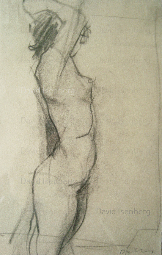 A three minute life drawing sketch