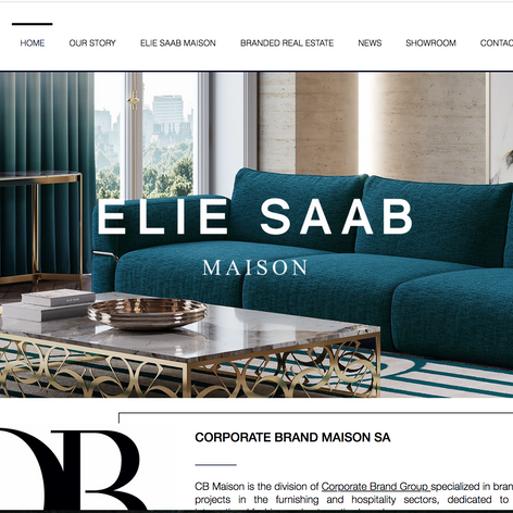 Corporate Brand Maison Website