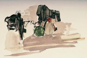 Travel Sketch - Indian Street