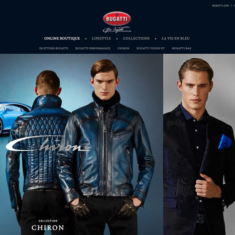 Bugatti Lifestyle Website & E-Commerce