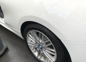 BMW リアフェンダー鈑金修理