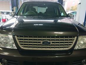 フォード エクスプローラ ヘッドライトスモーク塗装