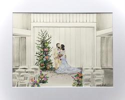 Cliffside Acres Ceremony - Watercolor