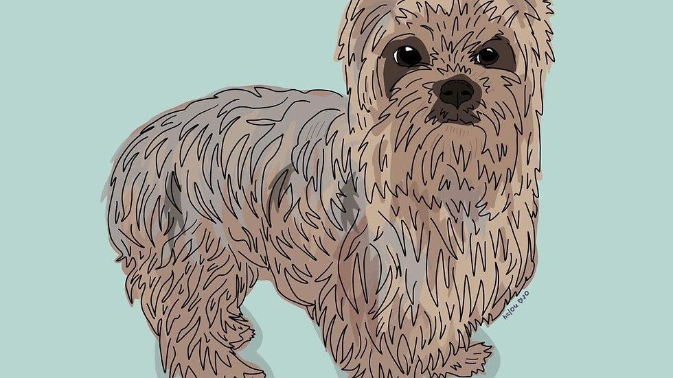 "custom digital pet portrait (8x10"")"