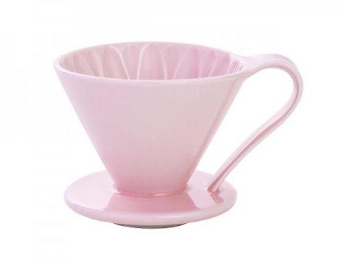 有田焼円すいフラワードリッパー(ピンク) cup4 2~4杯用 同色のメジャースプーン付き