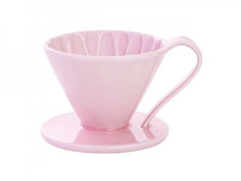 有田焼円すいフラワードリッパー(ピンク) cup1 1杯用 同色のメジャースプーン付き
