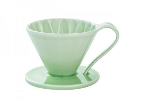 有田焼円すいフラワードリッパー(グリーン) cup1 1杯用 同色のメジャースプーン付き