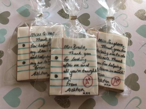 Teacher Thank You Cookies