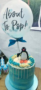 Pingu Baby Shower Cake