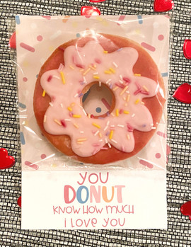 """""""You donut know how much I love you"""" Valentine's Cookies"""