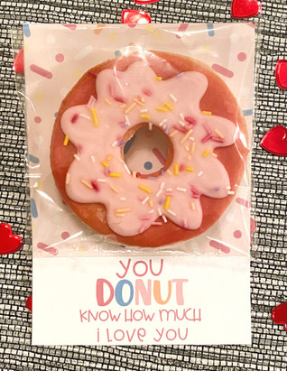 """You donut know how much I love you"" Valentine's Cookies"