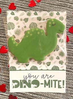"""You are DINO-MITE""  Valentine's Cookies"