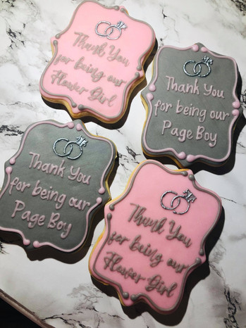 Bridesmaid / Page Boy Thank You Cookies
