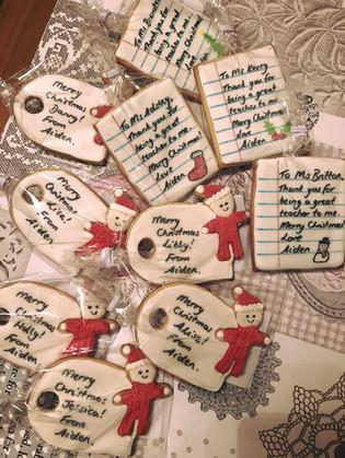 Christmas Teacher Gift Cookies