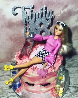 Boozy Barbie Cake