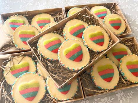 Rainbow Slice 'n' Bake Cookies