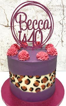 Leopard Print Fault Line Cake