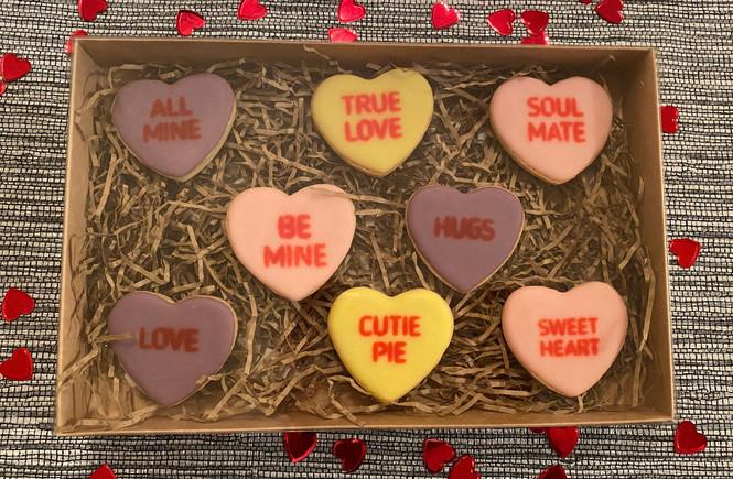Valentine's Love Heart Cookies