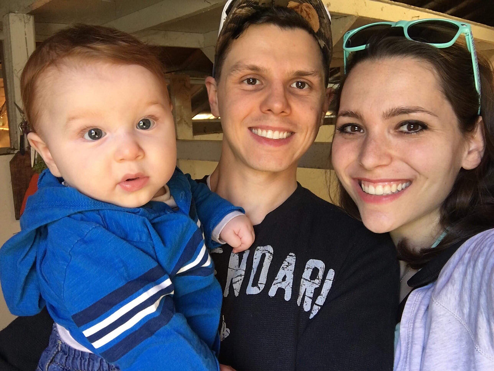 Baby Maverick, George, and Erica