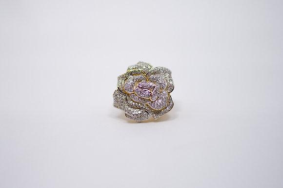 Anel Rosa com diamantes, prazo de entrega 20 dias