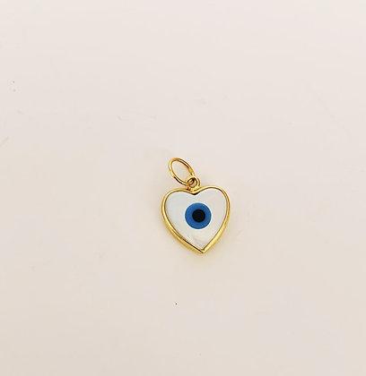 Pingente Coração Olho grego