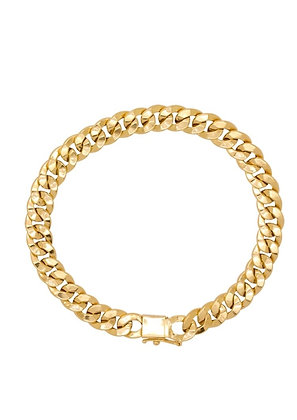Pulseira de ouro18k Groumet  20cm