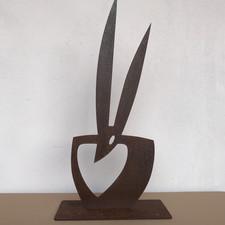"""Skulptur """"Hasenherz"""" 1"""