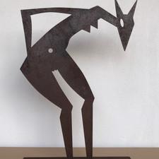 """Skulptur """"ELSIE findet etwas"""""""