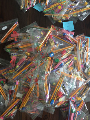 Our Lady of Lourdes Academy collects School Supplies for Africa