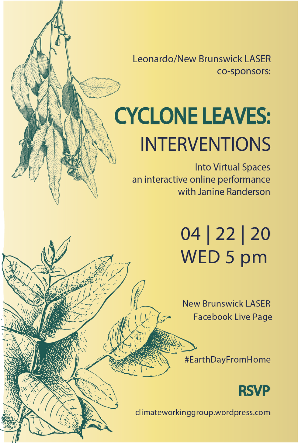 Cyclone Leaves Poster