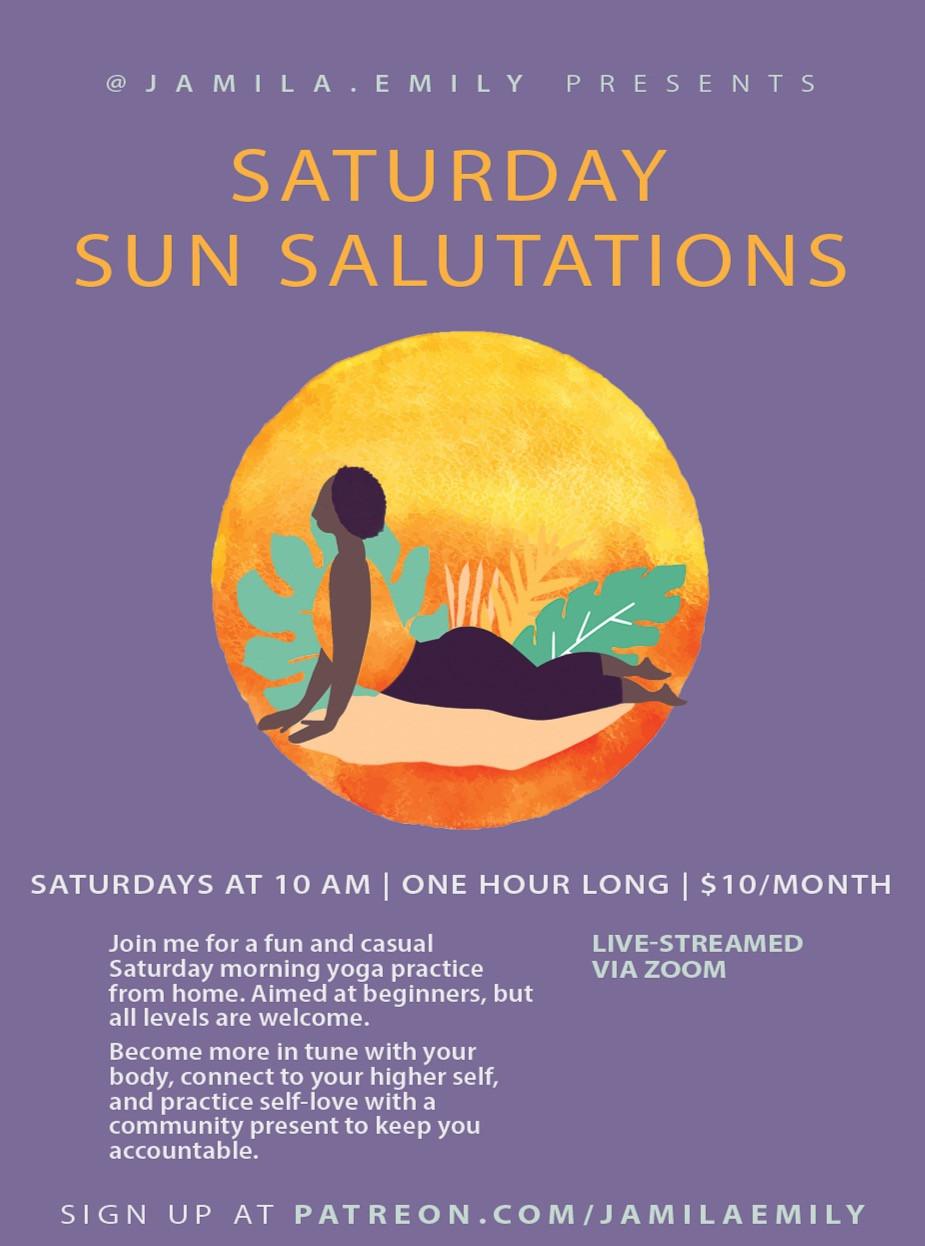 Virtual Yoga Event Flyer