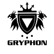 GRYPHON SHIELD LOGO BLACK [NO SERIF] ROU