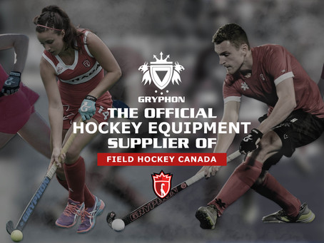 GRYPHON are proud to be the Official Hockey Equipment Supplier of Field Hockey Canada