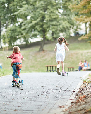 Kids Riding Scooters