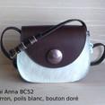 Mini Anna BC52 Marron, poils blanc, bout