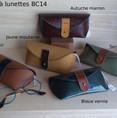 Boîtes à lunettes BC14 - 46€ - Cuir, doublée liège, coquée plastique semi-rigide.