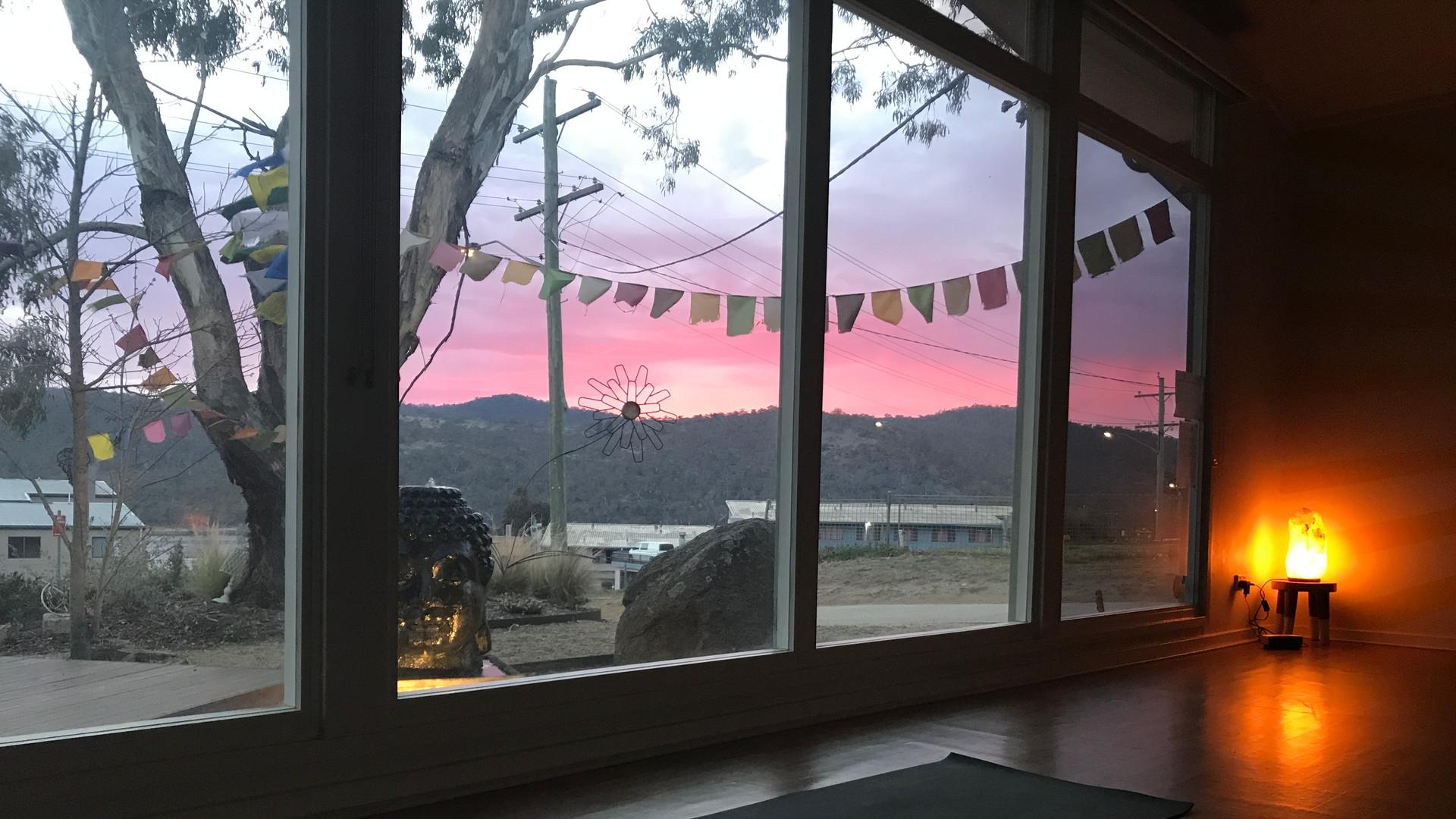 Pink Jindabyne skies