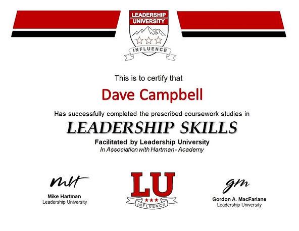 Leadership University Certificate - FINA