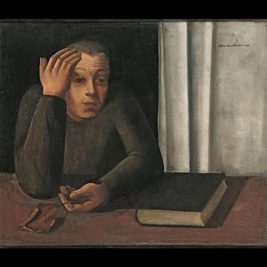 Mann mit verwelktem Blatt - 1941