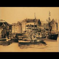 Schiffswerft in Ostende - 1935