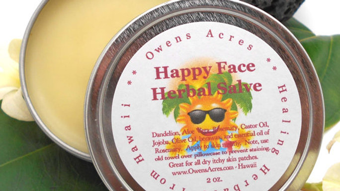 Happy Face Salve for Dark Spots, Dry Skin, Age Lines, Sun Damage, Over 50 Skin