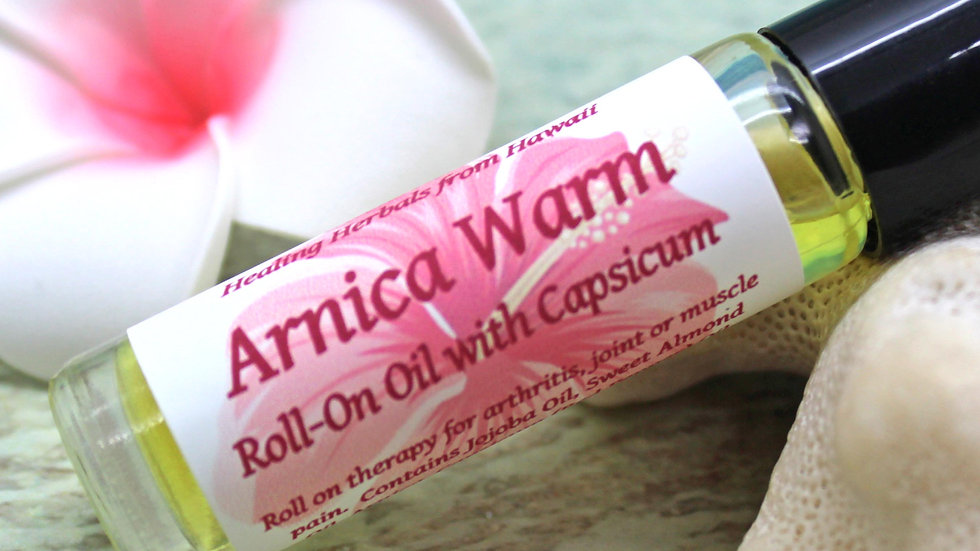 ARNICA WARM Roll On Pain Therapy Oil with Capsicum / Roll On Oil / Aromatherapy